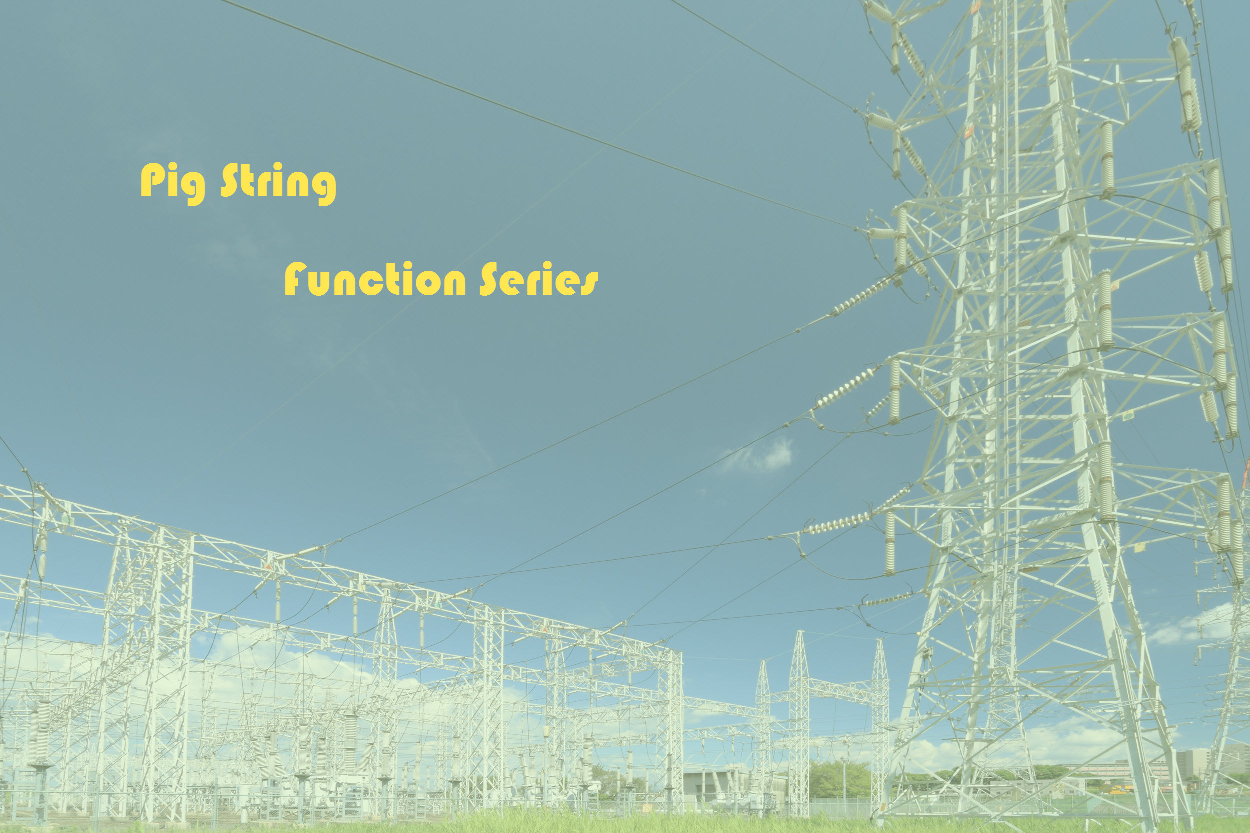 Pig String Function Series