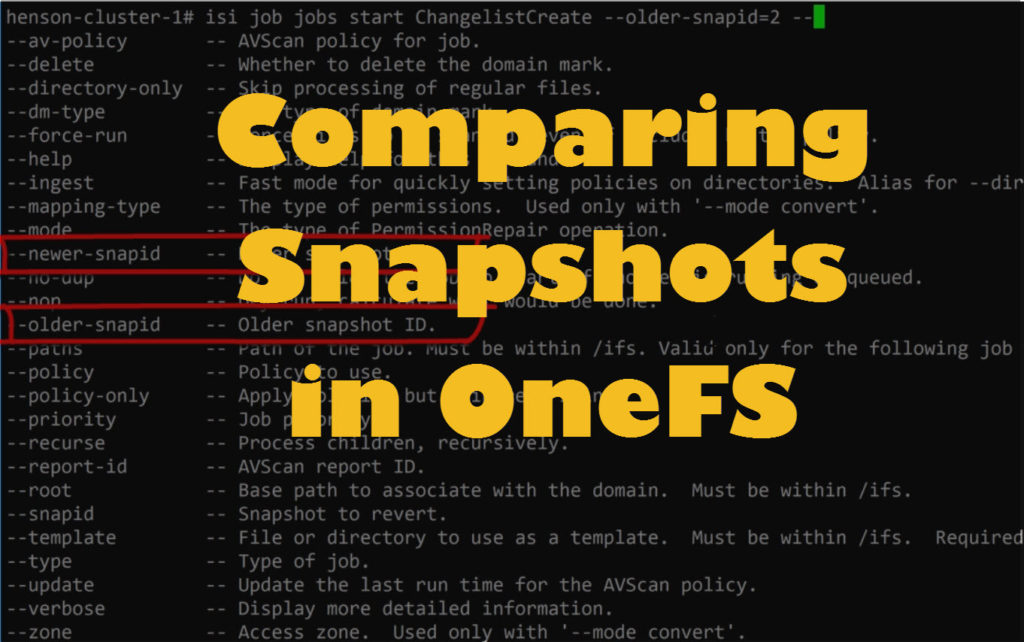 Compare Snapshots in OneFS